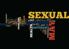The Different Sexual Health Disorders Text Background Word Cloud Concept Stock Images