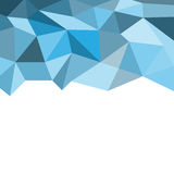 Different shades of blue polygon background. The blue polygons layout at the top and left white space area at the bottom to put cli Stock Image