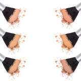 Different shades of loose cosmetic powder Stock Image