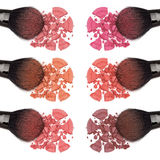Different shades of powder blush Stock Photos