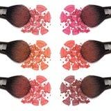 Different shades of powder blush Stock Photos