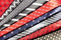 Different shades tie fabrics Royalty Free Stock Photos