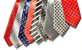 Different shades tie fabrics Royalty Free Stock Photos