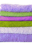 Different shades of towels stacked Royalty Free Stock Photography