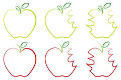 Different shape of Apple Stock Photography