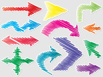 Different shape of arrows Royalty Free Stock Images