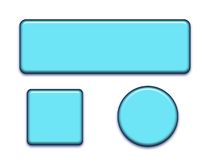 Different shape buttons. Different shape of web buttons Stock Image