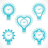 Different shape clock. Vector Royalty Free Stock Images