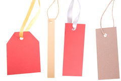 Different shape, empty tag on white background Stock Photography