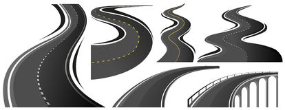 Different shape of roads Stock Image