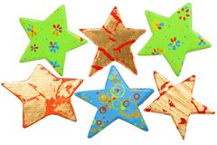 Different shape of star, Christmas decoration Royalty Free Stock Photo