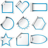 Different shaped stickers Royalty Free Stock Photos