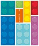 Different shapes and  colors of blocks Stock Images