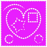 Different shapes for frames of hearts. Royalty Free Stock Image