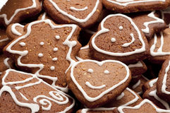 Different Shapes of Gingerbread Cookies Stock Photography
