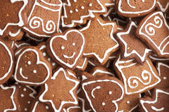 Different Shapes of Gingerbread Cookies Stock Image