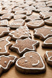Different Shapes of Gingerbread Cookies Stock Photos