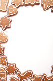Different Shapes of Gingerbread Cookies Royalty Free Stock Images