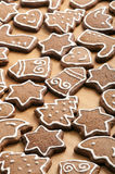Different Shapes of Gingerbread Cookies Royalty Free Stock Photography
