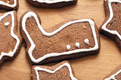 Different Shapes of Gingerbread Cookies Stock Images