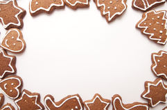 Different Shapes of Gingerbread Cookies Royalty Free Stock Image