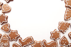 Different Shapes of Gingerbread Cookies Royalty Free Stock Photos