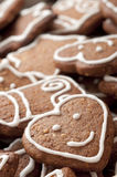 Different Shapes of Gingerbread Cookies Stock Photo