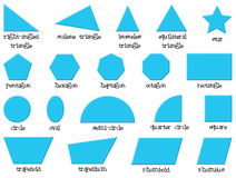 Different shapes. Illustration of the different shapes on a white background Stock Photo