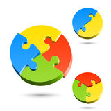 Different shapes of jigsaw puzzle Stock Photography