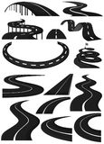 Different shapes of lanes Royalty Free Stock Image