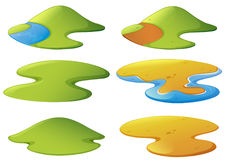 Different shapes of mountains and beaches. Illustration vector illustration