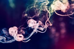 Colorful smoke. Royalty Free Stock Photo