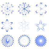 Different Shapes Of Atom Royalty Free Stock Photo