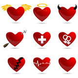 Different Shapes Of Heart Royalty Free Stock Image