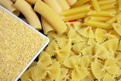 Different shapes of pasta Stock Image