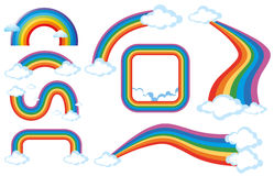 Different shapes of rainbow Royalty Free Stock Images