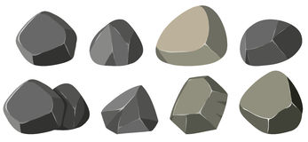 Different shapes of rocks Royalty Free Stock Photo