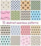 Different Shapes Seamless Patterns Stock Photos