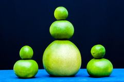Different shapes sets from green citruses fruits. Limes, pomelo, grapefruits. Different shapes sets for imagination from green citruses fruits stock photos