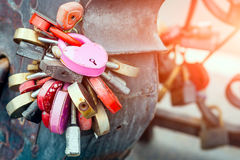 Different shapes and sizes locks Royalty Free Stock Photo