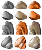 Different shapes of stone. Illustration Royalty Free Stock Image