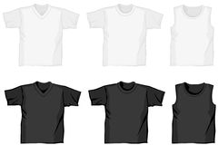 Different shirts. Different illustrated shirts for presenting fashion Royalty Free Stock Photo