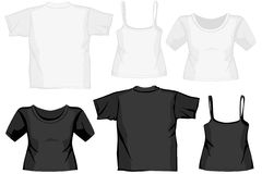 Different shirts. Different illustrated shirts for presenting fashion Royalty Free Stock Images