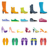 Different shoes  collection Royalty Free Stock Images