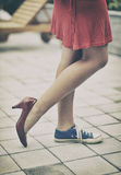 Different shoes royalty free stock image