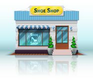 Different shop and store icon. Includes realistic Shoe Shop on white background. Vector illustration. Different shop and store icon. Includes realistic Shoe Shop vector illustration