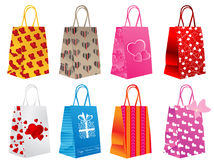 Different shopping bags. Vector illustration of different shopping bags Royalty Free Stock Photo