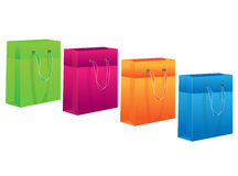 Different shopping bags. Vector illustration of different shopping bags Stock Image