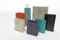 Different shopping bags Stock Photos