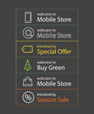 Different shopping banners Vector set Stock Photo